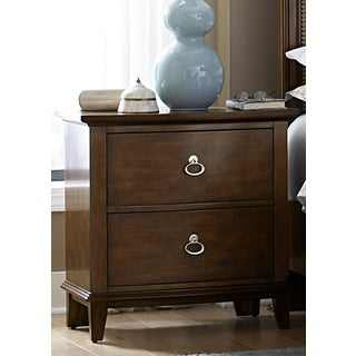 Liberty Walnut Cathedral 2-Drawer Nightstand