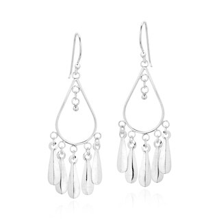 Sweet Wind Chimes Sterling Silver Chandelier Earrings (Thailand)
