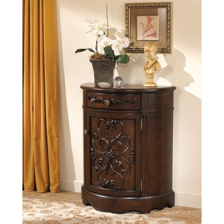 Signature Designs by Ashley Norcastle Dark Brown Accent Cabinet