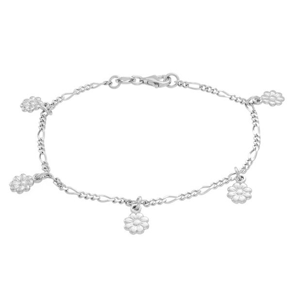 Sterling Essentials Daisy Stations Bracelet