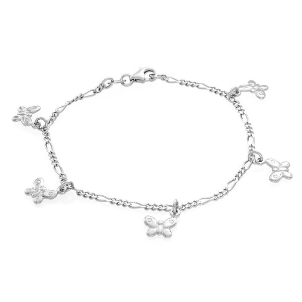 Sterling Essentials Sterling Esentials Butterfly Charm Bracelet