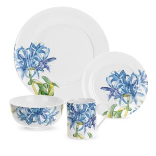 Royal Worchester Essential Blue Agapanthus 16-piece Set