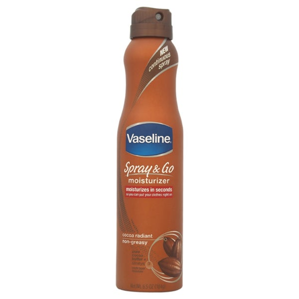 Vaseline Spray and Go Moisturizer Cocoa Radiant Non-Greasy 6.5-ounce Moisturizer