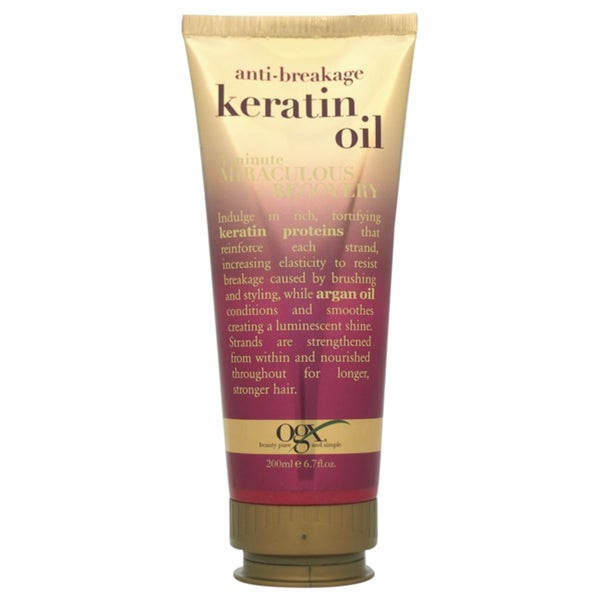 Organix Anti-Breakage Keratin Oil 3 minute Miraculous Recovery 6.7-ounce Treatment