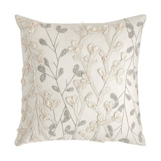 Modern Living Oxidized Leaf 18-inch Decorative Throw Pillow