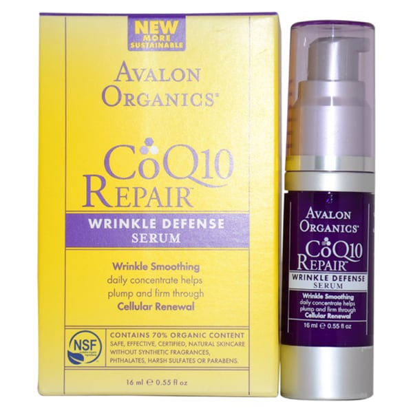 Avalon Organics CoQ10 Repair Wrinkle Defense 0.55-ounce Serum