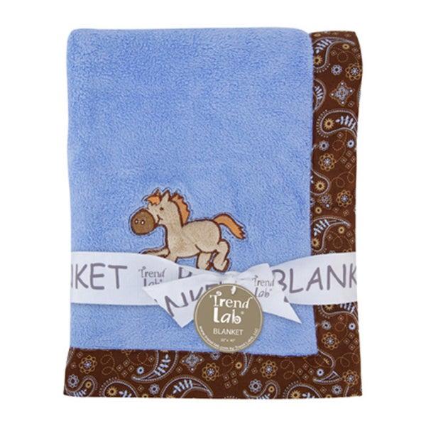 Trend Lab Cowboy Baby Framed Receiving Blanket