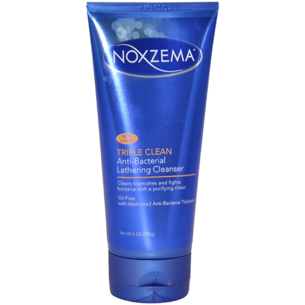 Noxzema Triple Clean Anti-Bacterial Lathering 6-ounce Cleanser