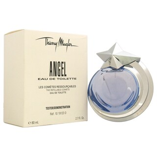 Thierry Mugler Angel Women's 2.7-ounce Eau de Toilette Spray (Refillable) (Tester)