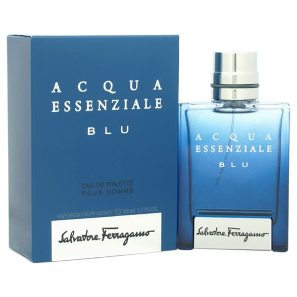 Salvatore Ferragamo Acqua Essenziale Blu Men's 1.7-ounce Eau de Toilette Spray