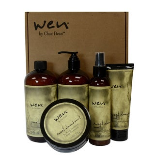 Chaz Dean Wen Hair Care Deluxe 5-piece Kit Sweet Almond Mint