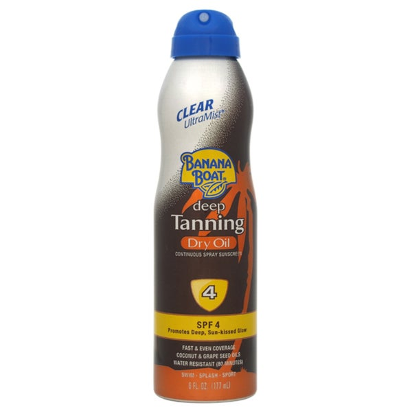 Banana Boat Clear UltraMist Deep Tanning 6-ounce Dry Oil SPF 4 Spray Sunscreen