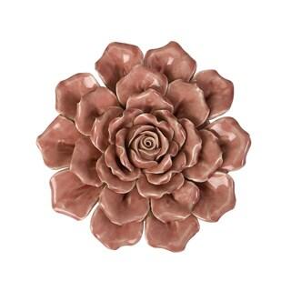 Isabella Medium Ceramic Wall Decor Rose