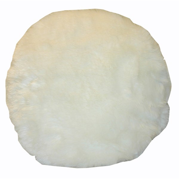 Decorative Pillows Round : Round Faux Fur Decorative Throw Pillow