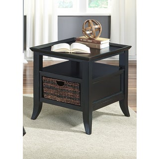 Liberty Rubbed Black End Table