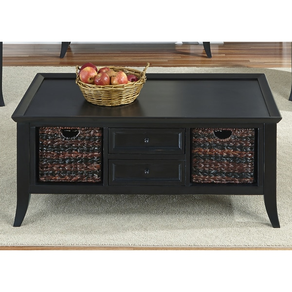 Liberty Rubbed Black Cocktail Table