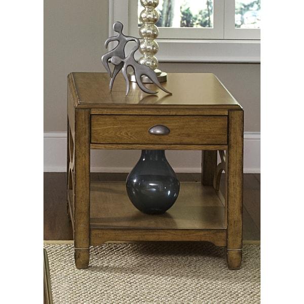 Liberty Distressed Sandstone White Oak End Table