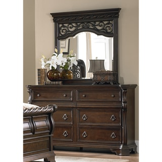 Liberty Brownstone Traditional 8-Drawer Dresser and Mirror Set