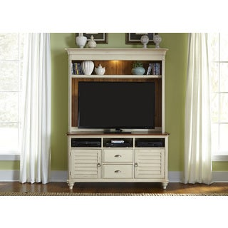 Liberty Cottage Bisque and Natural Pine Entertainment Set