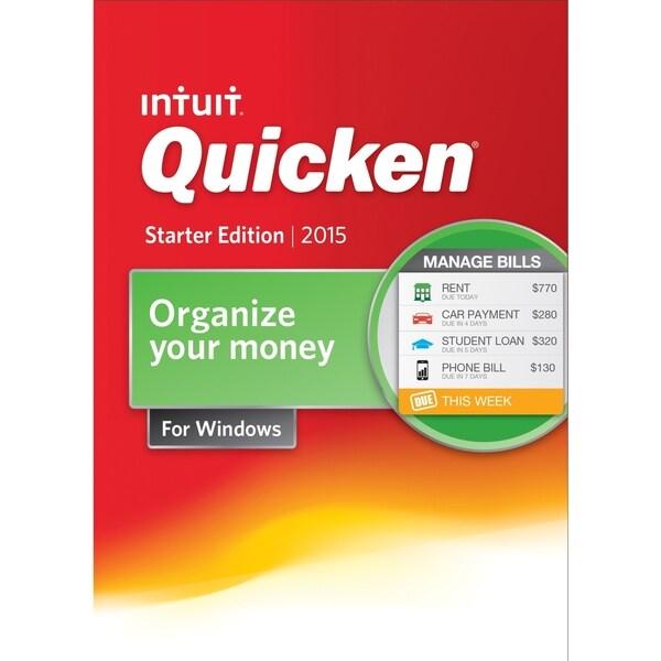Intuit Quicken 2015 Starter Edition