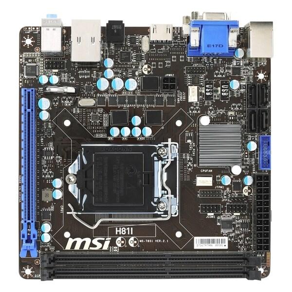 MSI H81I Desktop Motherboard - Intel H81 Chipset - Socket H3 LGA-1150