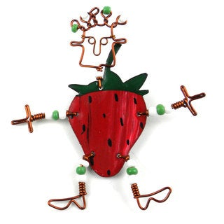 Dancing Girl Strawberry Pin (Kenya)