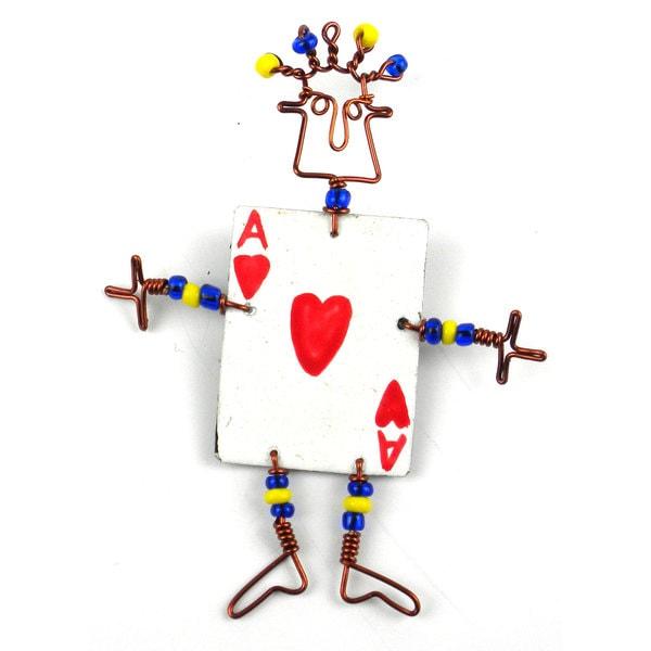 Dancing Girl Card Player Pin (Kenya)
