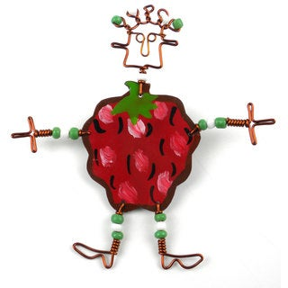 Dancing Girl Berry Pin (Kenya)