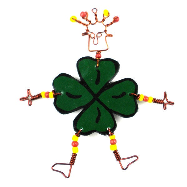 Dancing Girl Luck of the Irish Pin (Kenya)