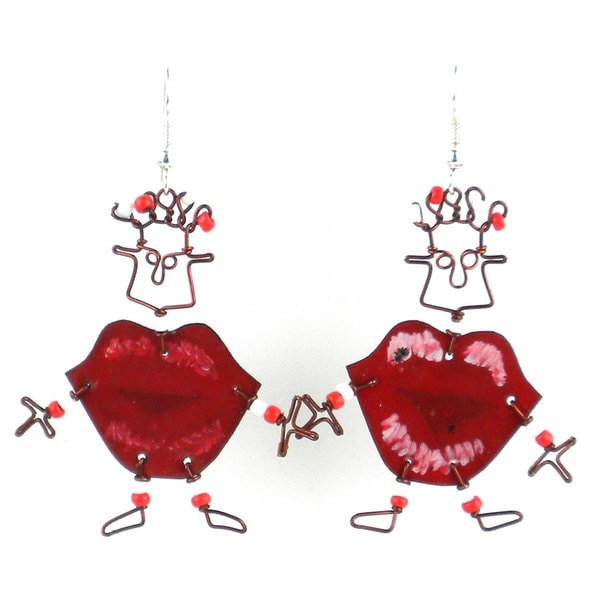Dancing Girl Kiss Me Quick Earrings (Kenya)