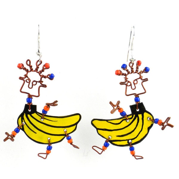 Dancing Girl Go Bananas Earrings (Kenya)