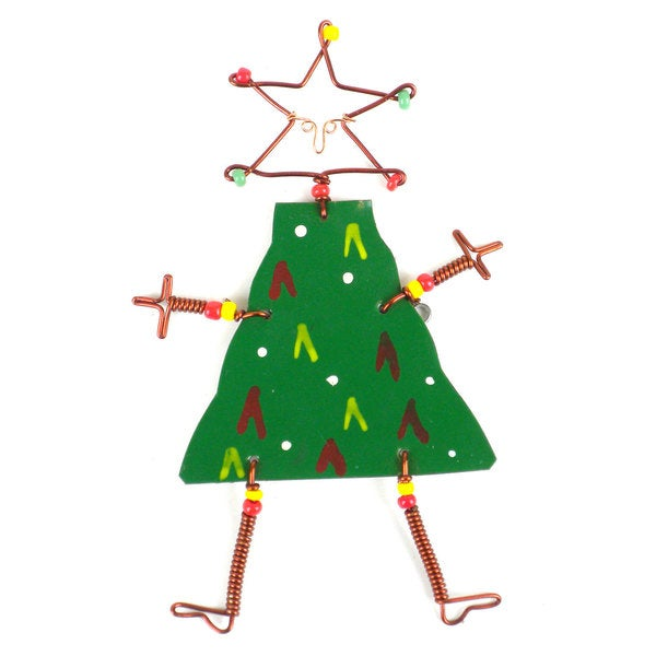 Dancing Girl Christmas Tree Pin (Kenya)