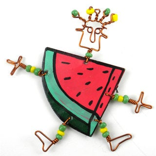 Dancing Girl Melon Slice Pin (Kenya)