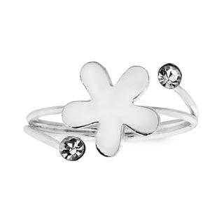 Daisy Beauty Cubic Zirconia .925 Silver Toe or Pinky Ring (Thailand)