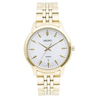 Seiko Men's SUR034 Classic Goldtone Stainless Steel Watch