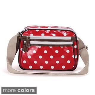 Anladia Polka-dotted Oilcloth Small Crossbody Bag