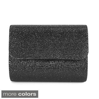 Anladia Solid Glitter-woven Evening Clutch