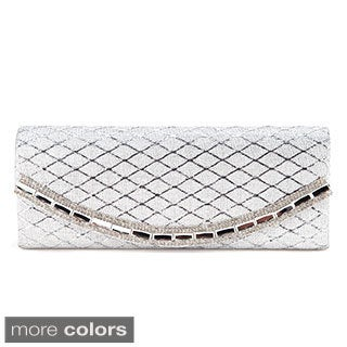 Anladia Satin Lattice Evening Clutch
