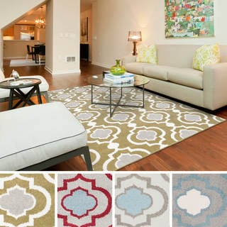 "Meticulously Woven Vallejo Transitional Geometric Area Rug (9'3"" x 12'6"")"