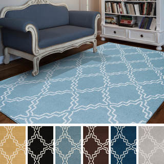 "Meticulously Woven Yonkers Modern Geometric Area Rug (9'3"" x 12'6"")"