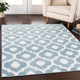 Hudson Contemporary Trellis Area Rug-(7'10 x 10'3)