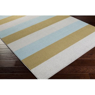 Meticulously Woven Ajaccio Casual Striped Area Rug (2' x 3')
