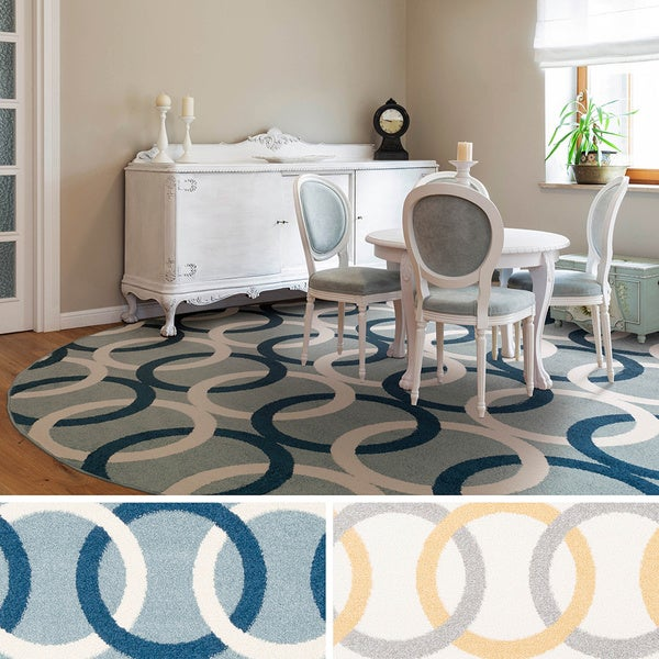 Contemporary Zoro Circle Area Rug-(7'10 Round)