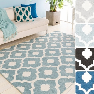 Maddox Contemporary Trellis Area Rug-(6'7 x 9'6)