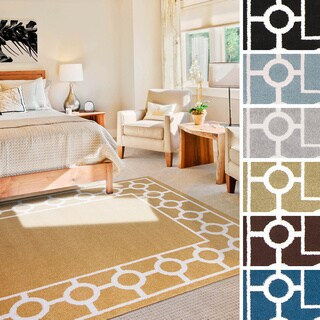 "Meticulously Woven Noel Transitional Geometric Area Rug (6'7"" x 9'6"")"