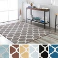 Meticulously Woven Groves Modern Geometric Area Rug (5'3