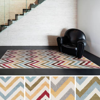 """Meticulously Woven Fay Geometric Area Rug (3'3"""" x 5')"""