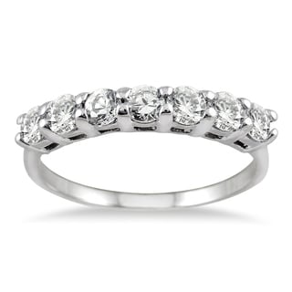 14k White Gold 1ct TDW Diamond Band (I-J, I1-I2)