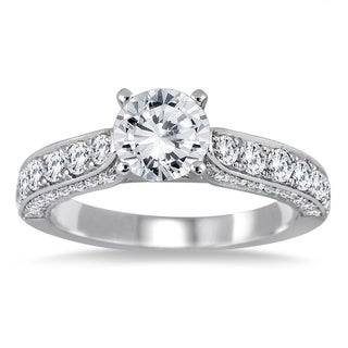 14k White Gold 1 7/8ct TDW Diamond Engagement Ring (I-J, I2-I3)