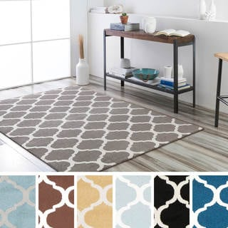 "Meticulously Woven Uster Modern Geometric Area Rug (9'3"" x 12'6"")"